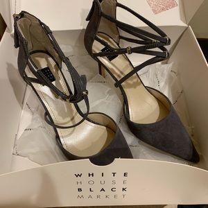 Beautiful grey closed toed heels